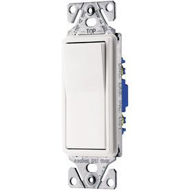 Shop Cooper Wiring Devices 15 Amp White 3 Way Decorator Light Switch At Lowes Com Light Switch Multi Room Audio Leviton