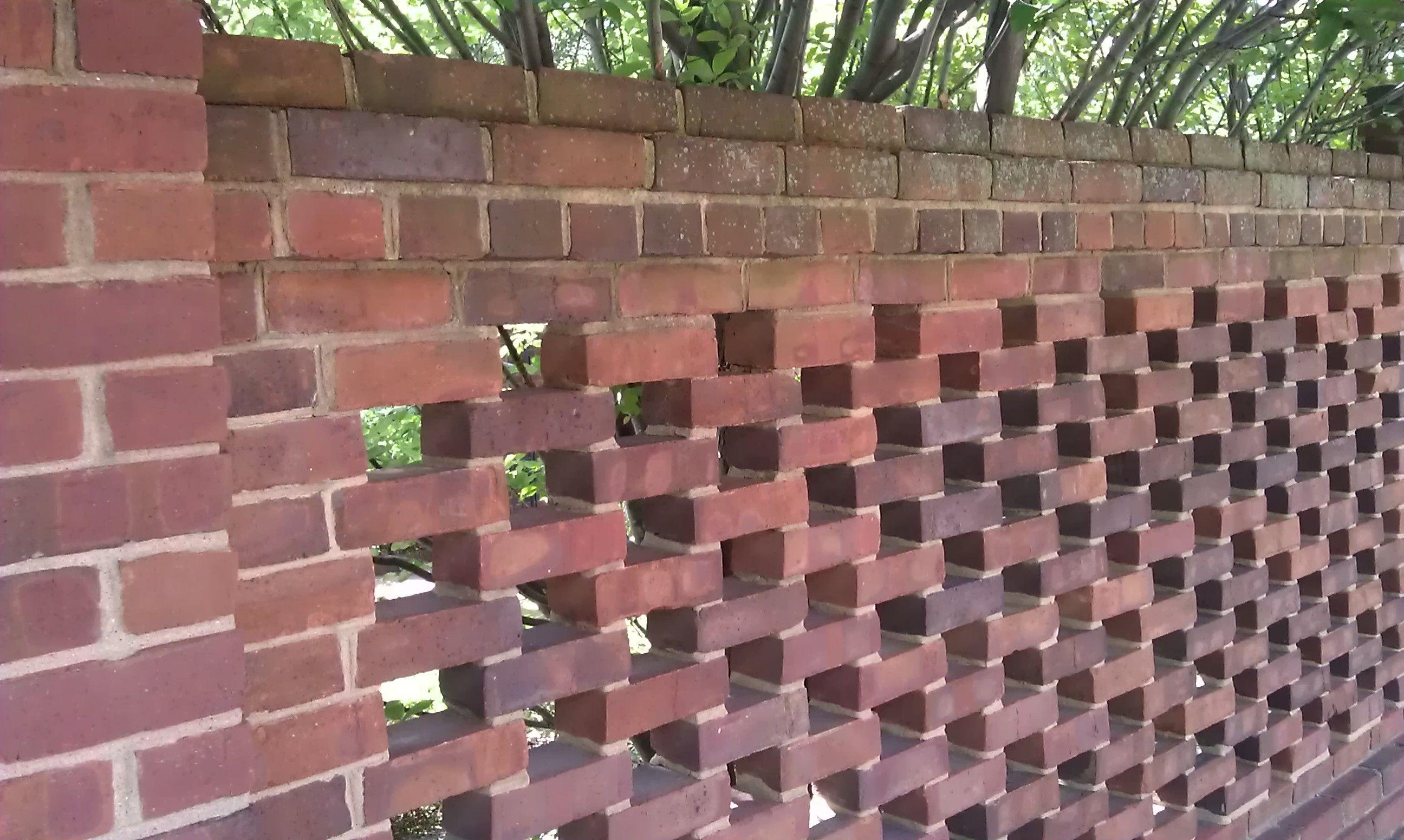 Pierced brick garden wall at the todd house in lexington for Brick garden walls designs