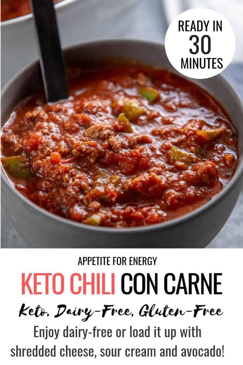 Keto Chili Con Carne Recipe Keto Chili Recipe Food Recipes