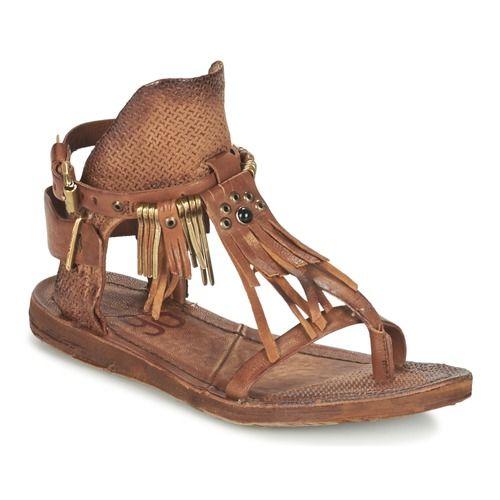 Zapatos Mujer Sandalias Airstep   A.S.98 RAMOS Marrón Huaraches 5441def53bc