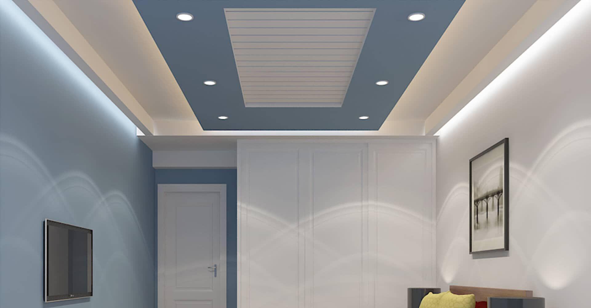 Residential False Ceiling False Ceiling Gypsum Board Drywall Plaster Saint Gobain Gyproc In Interior Ceiling Design Ceiling Design Pvc Ceiling Design Popular bedroom pvc ceiling