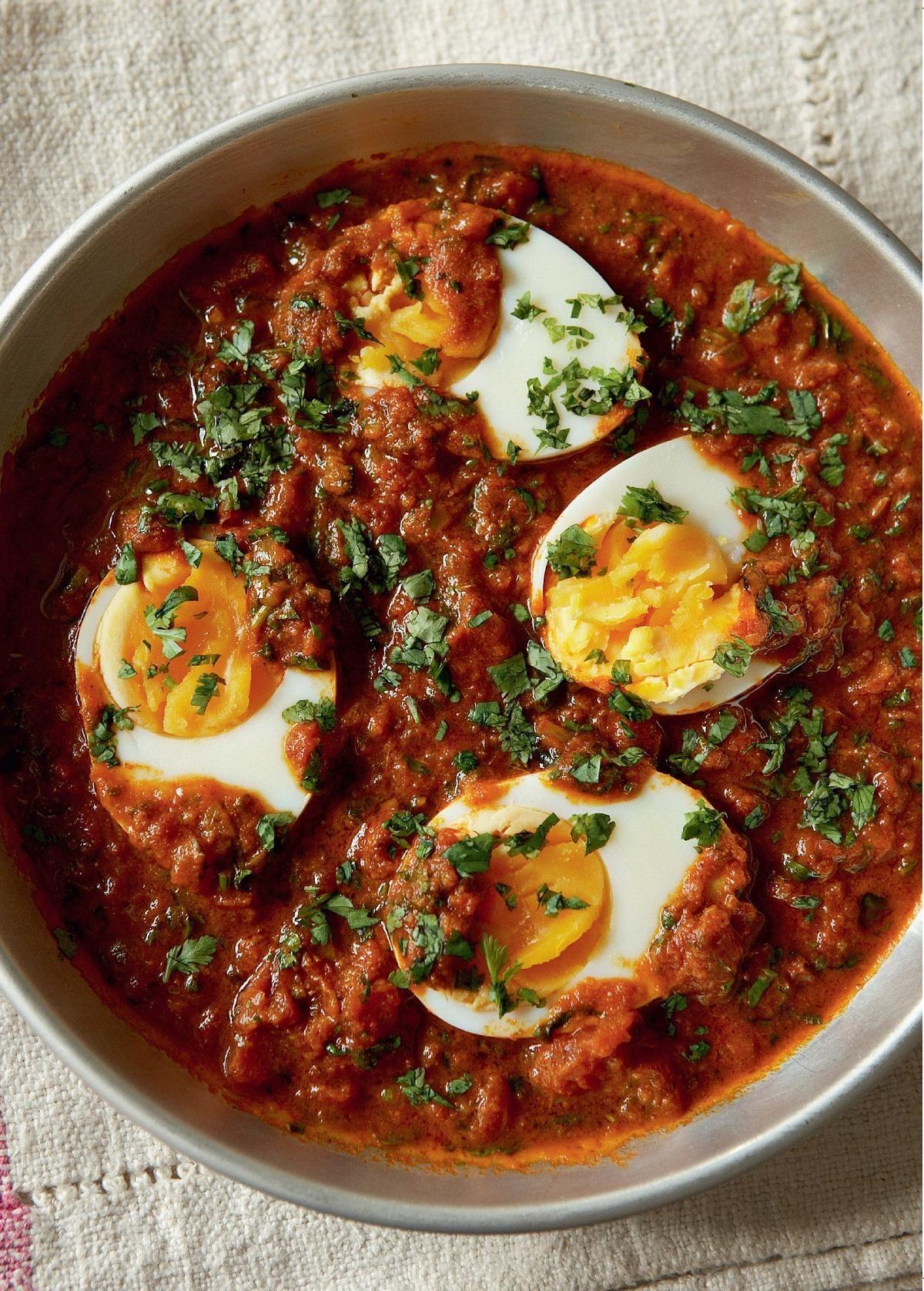Madhur Jaffrey S Hard Boiled Eggs Masala Recipe Egg Masala Egg Recipes Indian Boiled Egg Recipes