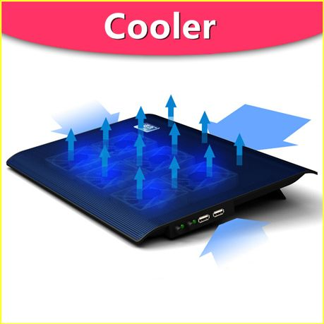 L112 Super Thin Infinitely Adjustable Speed Stepless 6 Fans Laptop
