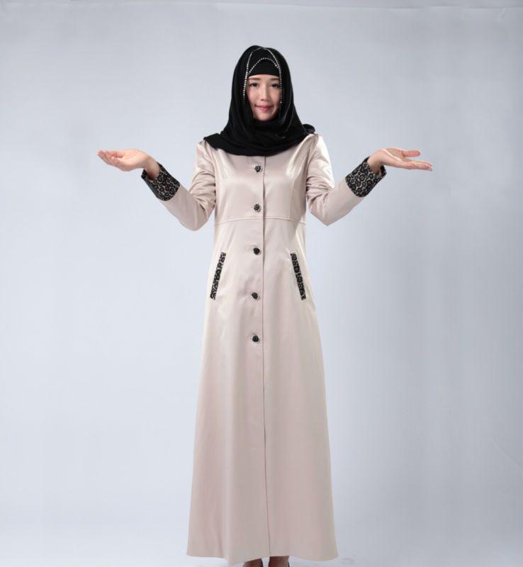 Maxi dress with jacket hijab modern