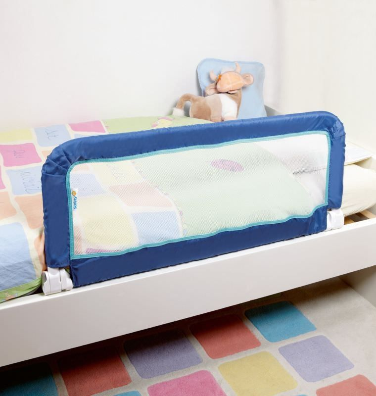 Toddlers Bed Rail Portable Safety Guard Barrier Foldable Easy Storage Blue - toddler bed side rail