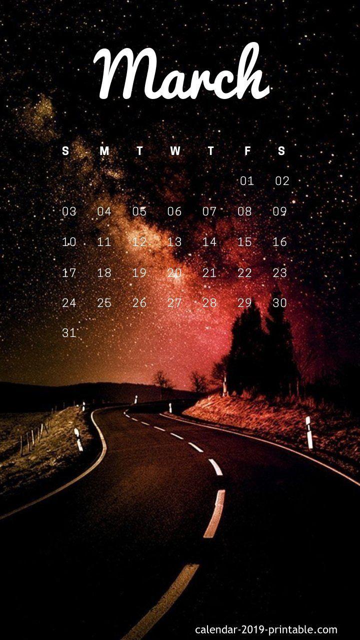 march 2019 unique background calendar Calendar wallpaper
