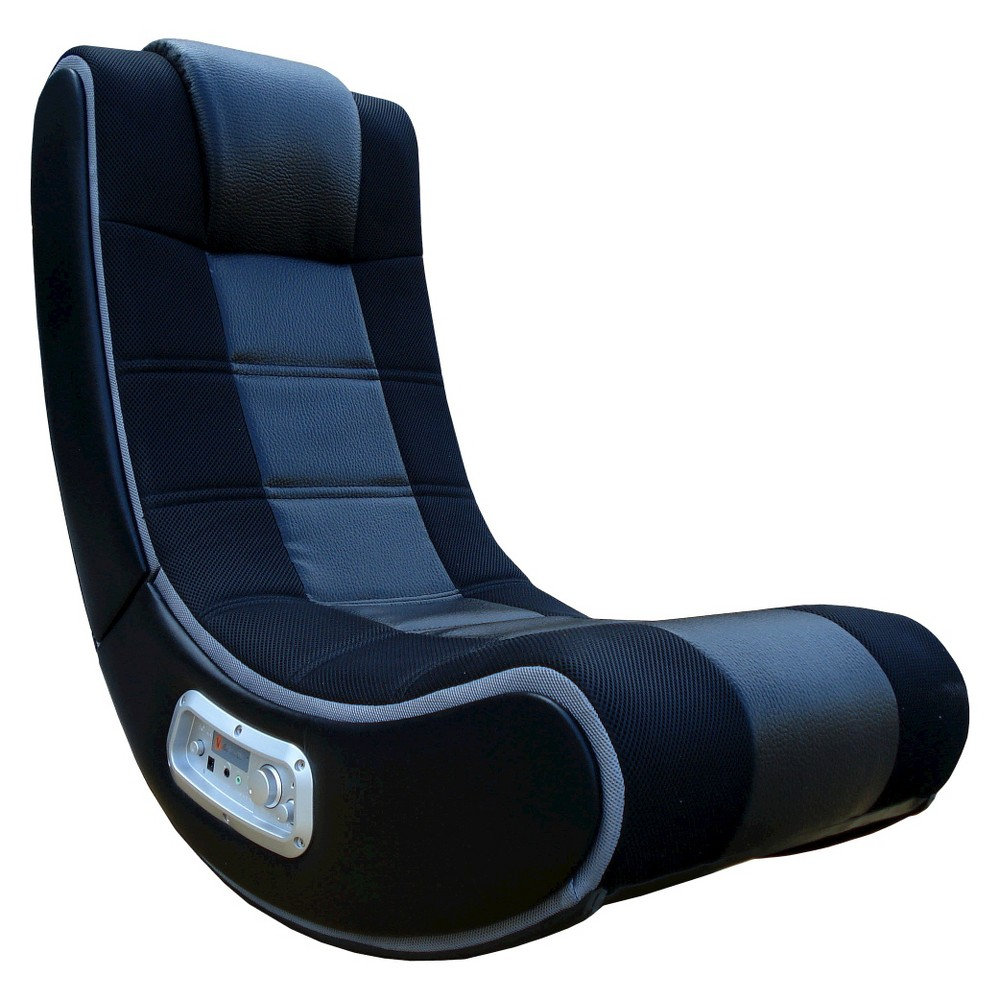 "28"" V Rocker SE Gaming Chair - Black/Gray - X Rocker images"