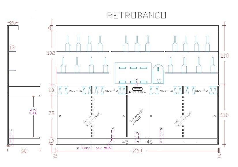 Conosciuto bancone bar progetto - Cerca con Google | bancone | Pinterest  XI05