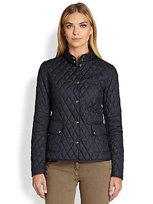 Belstaff Quilted Tech Snap-Front Jacket