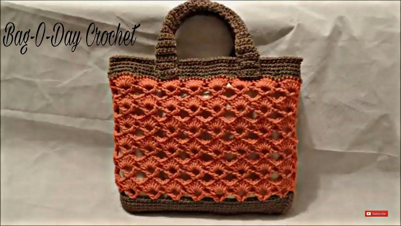 30047d1a760b CROCHET How to #Crochet Handbag Purse Bag #TUTORIAL #197 LEARN CROCHET -  YouTube
