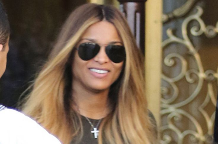 Ciara Shows Off Baby Bump in White August Getty Atelier Gown