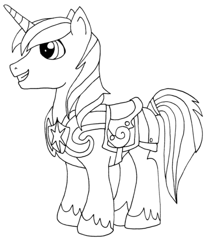 Shining Armor Coloring page   scrap   Pinterest