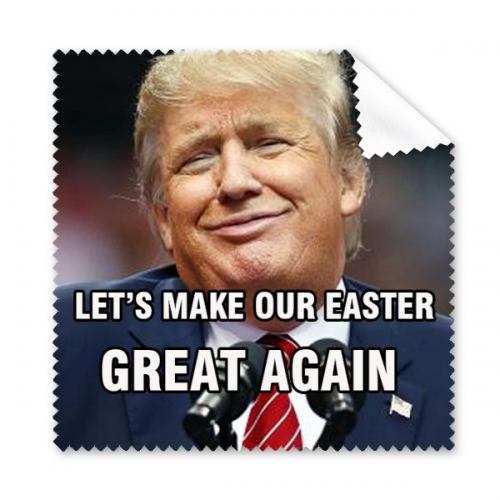 American President Trump Funny Let 39 S Make Our Easter Day Great Again Ridiculous Spoof Lovers Couple Meme Image Glass Spoofs President Trump Funny Let It Be