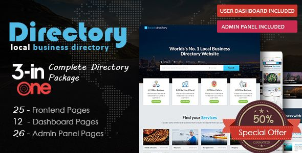 The directory directory listing template pinterest local directory pro local listing directory html template wajeb Image collections