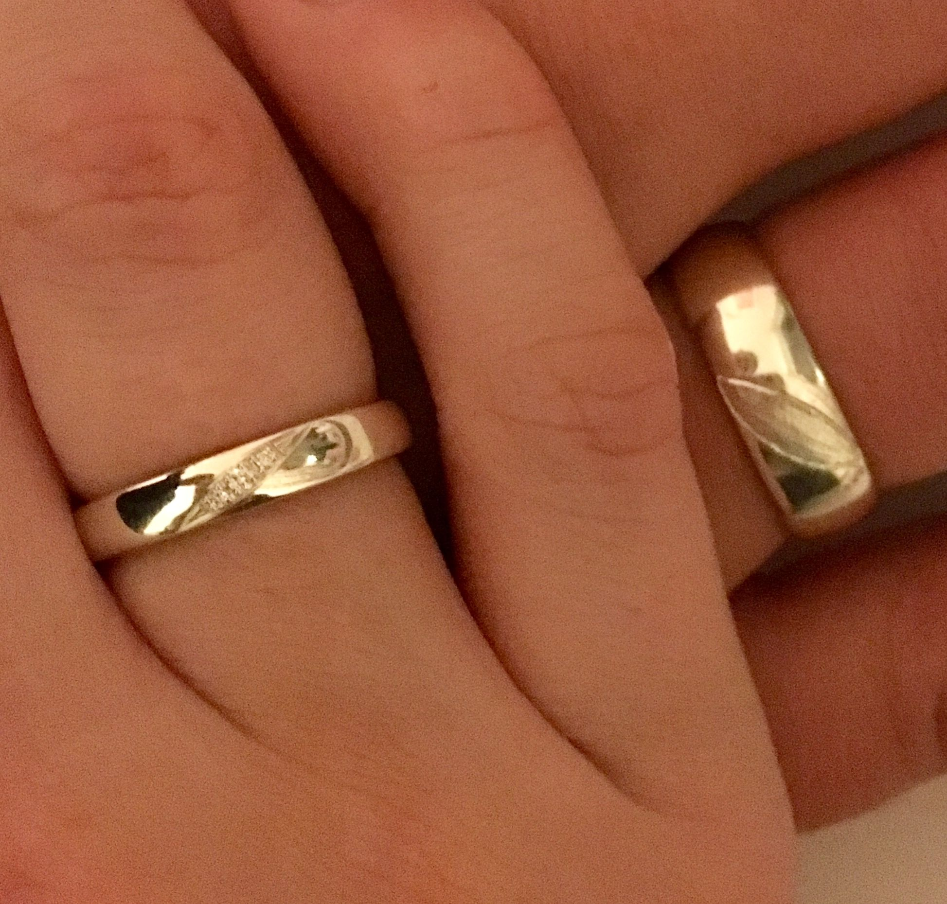 Eheringe Gold/Silber Elektrum