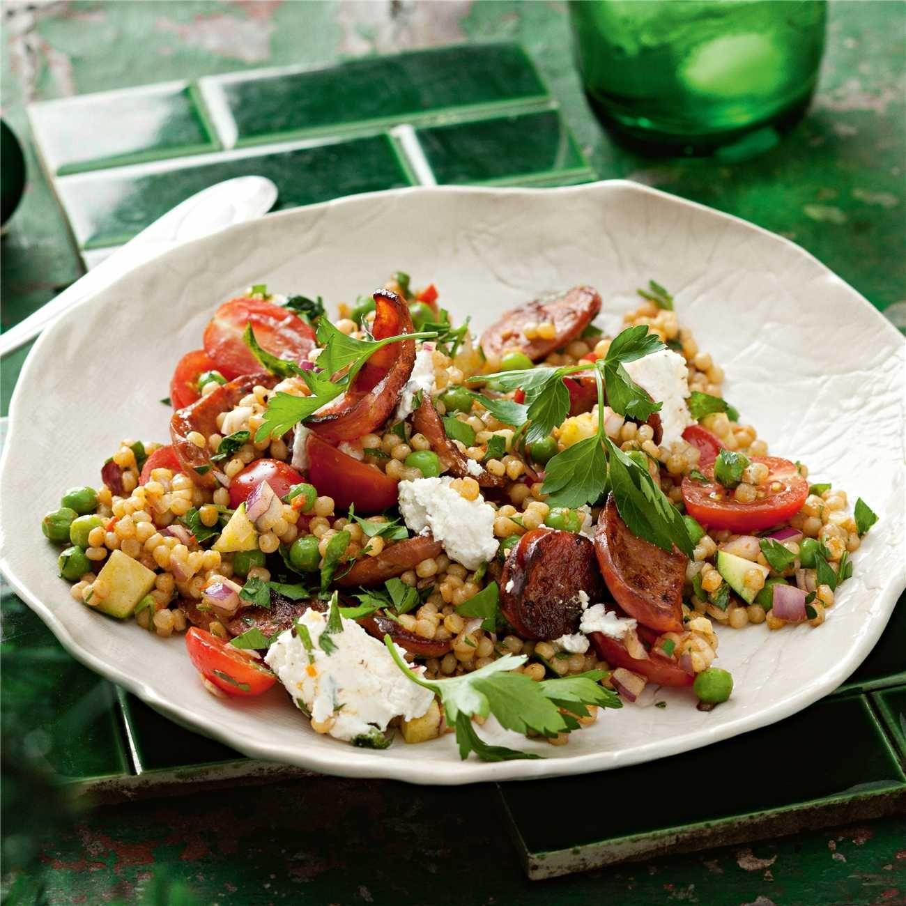 Couscous Chorizo Zucchini Salad Zucchini Salad Couscous Recipes Couscous