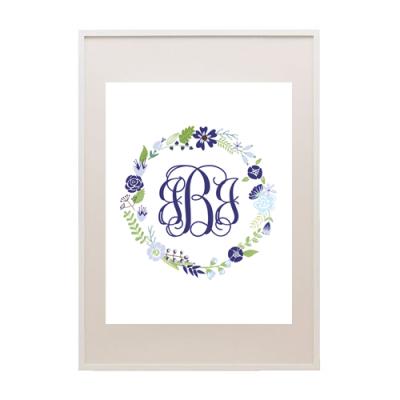 free floral wreath printable monogram maker from printablemonogramcom
