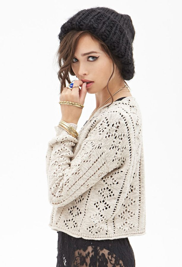 a65a2bc93 FOREVER 21 Boxy Open-Knit Sweater