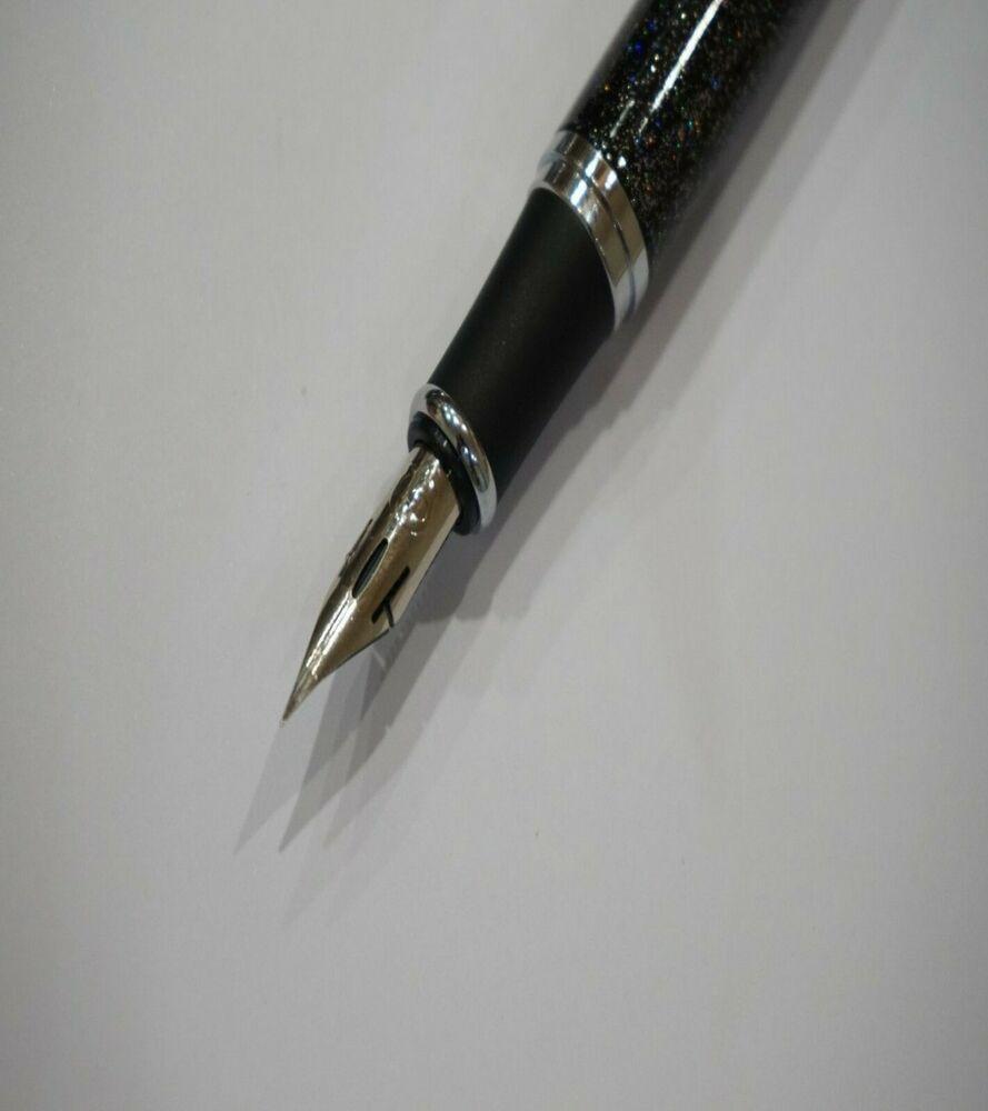 Super Flex Zebra G Nib Fitted Jinhao x750 Black Glitter Fountain Pen