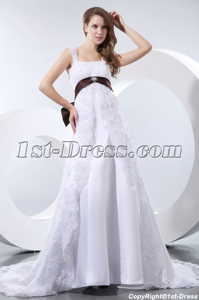 Elegant Straps Lace Maternity Wedding Dresses Los Angeles:1st-dress ...