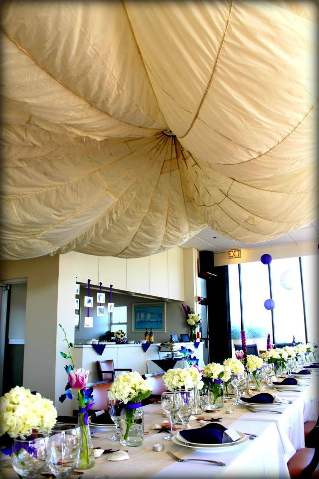 Parachute As Ceiling Decor Mavi Social Erfly Design