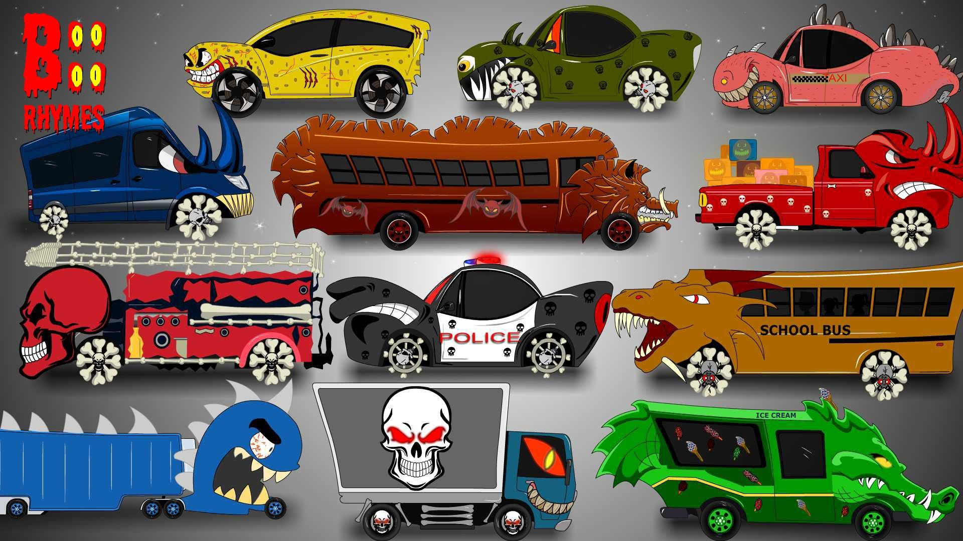 Learning Street Vehicles for Children | Halloween Vehicles | Car ...