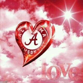 Love Alabama Crimson Tide Crimson tide football