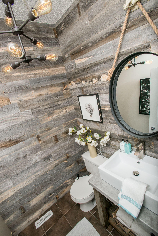 Reclaimed Weathered Wood Reclaimed Wood Accent Wall Pallet Wall Bathroom Wood Bathroom