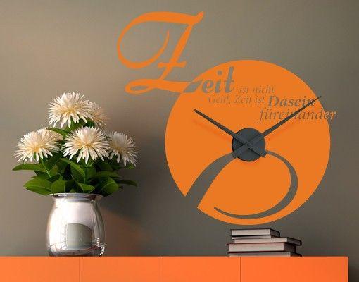 Wandtattoo Zitate - Wandzitate #Uhr NoEK50 Was ist Zeit - wandbilder für die küche
