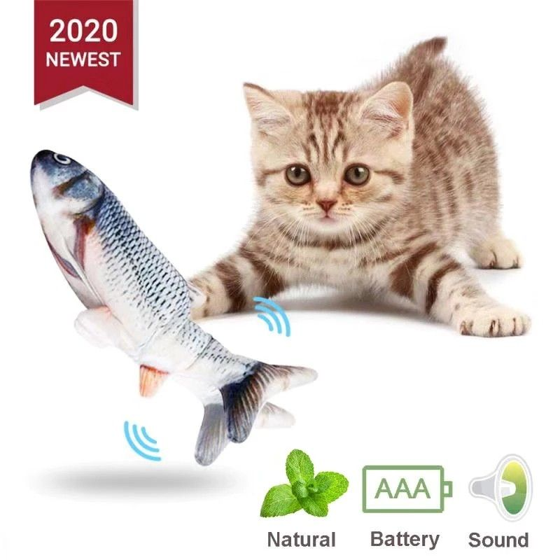 Wag Away Fish Cat Toy In 2020 Interactive Cat Toys Pet Cat Toys Fish Cat Toy