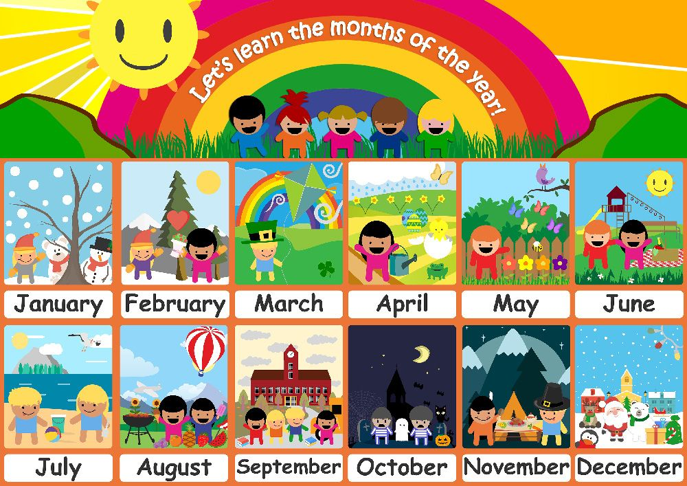 Months Of The Year For Kindergarten Worksheets