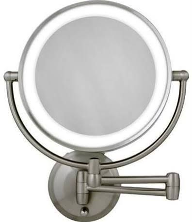 This one meets all of your expectations it is battery operated wall this one meets all of your expectations it is battery operated wall mounted lighted makeup mirror 10x aloadofball Gallery