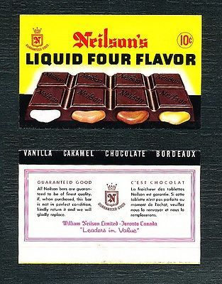 Neilsons Canada 1960s Liquid Four Flavours Chocolate Bar