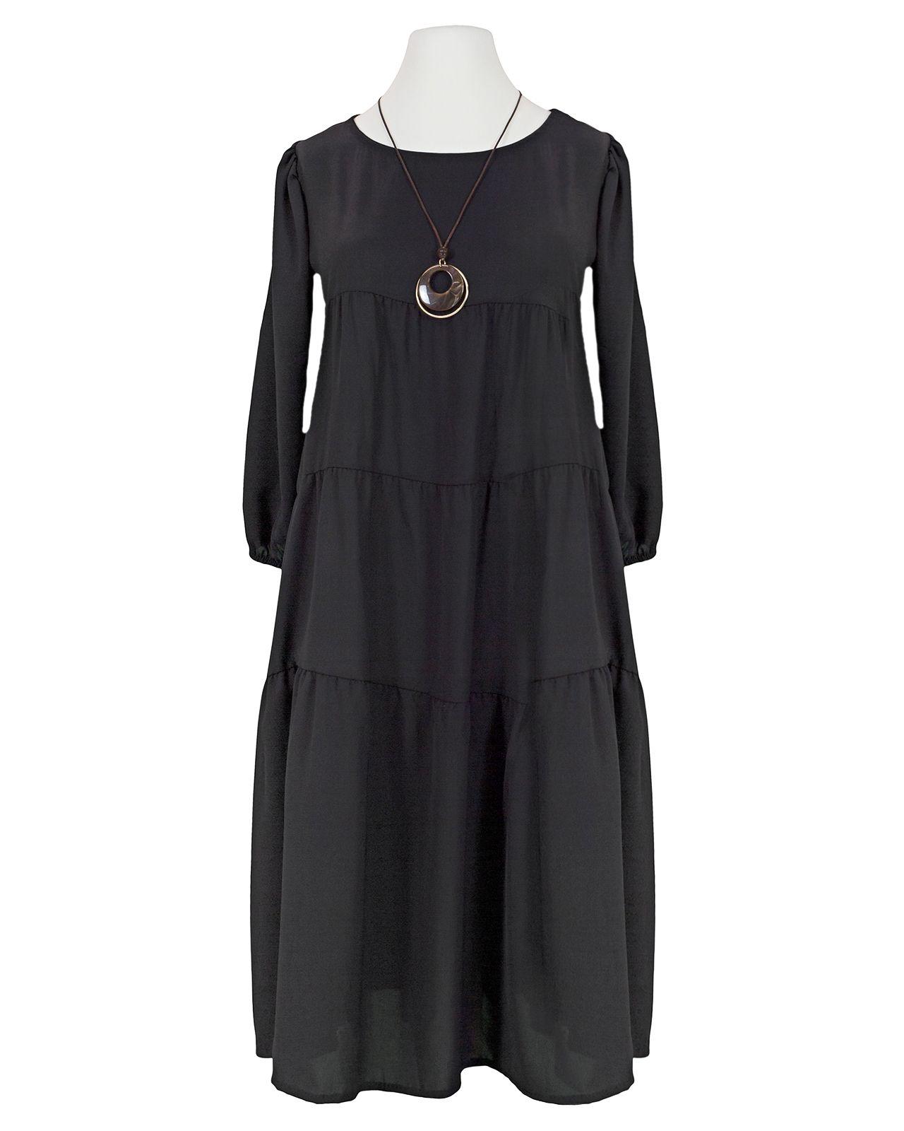 jerseykleid mit kette, schwarz bei meinkleidchen kaufen