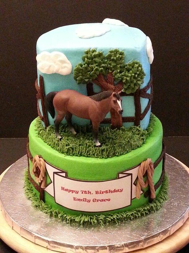 Wondrous Horse Cake With Images Horse Birthday Cake Horse Cake Horse Birthday Cards Printable Giouspongecafe Filternl