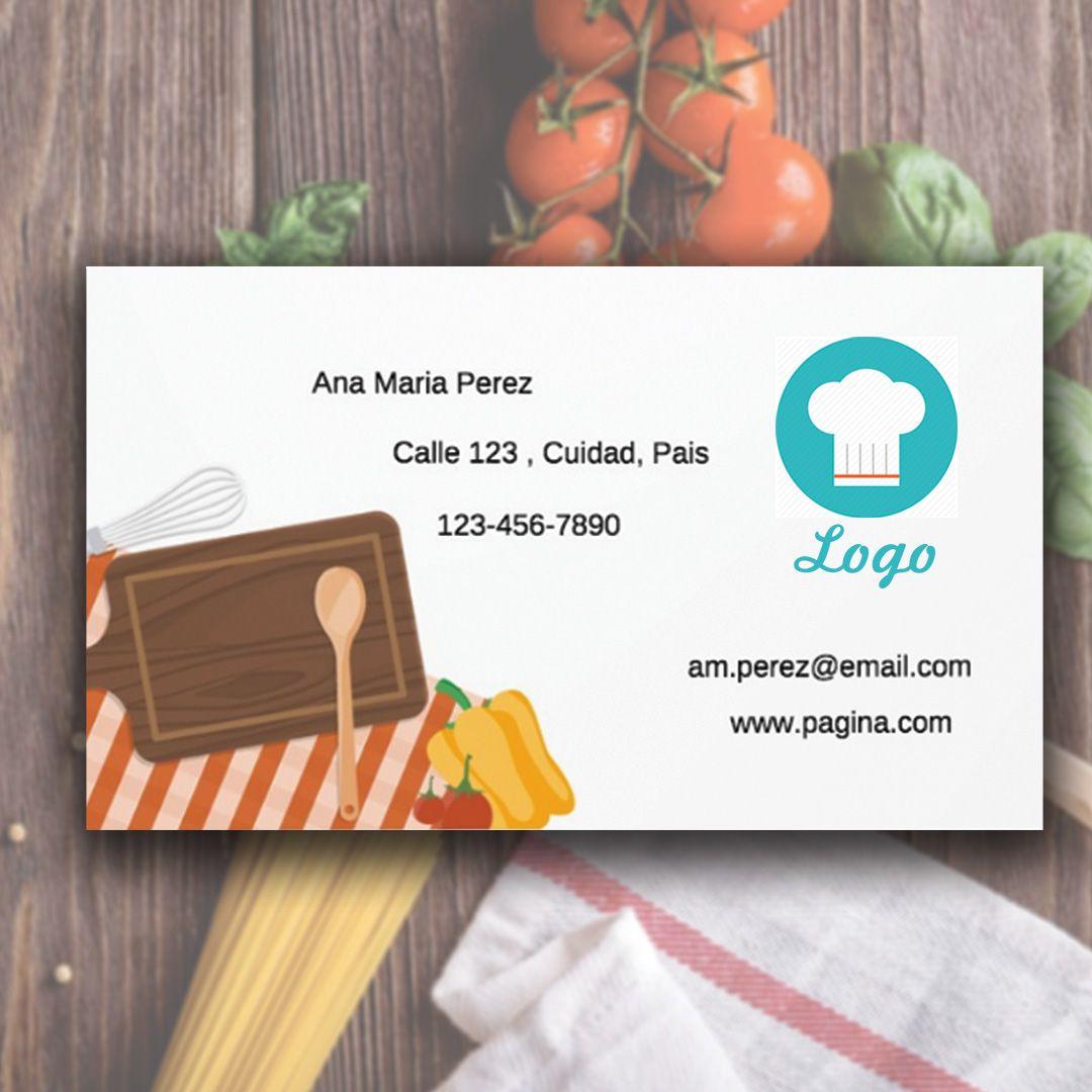 tarjetas de visita, tarjetas de presentacion, business card, chef ...