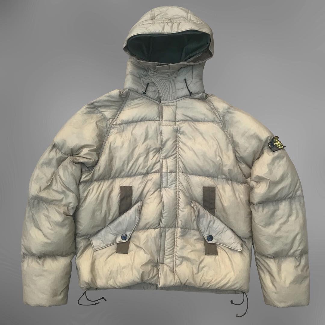 Stone Island Brown Garment Dyed Puffer Jacket A W 2005 Size Extra Large Stone Island Streetwear Jackets Military Fashion [ 1080 x 1080 Pixel ]
