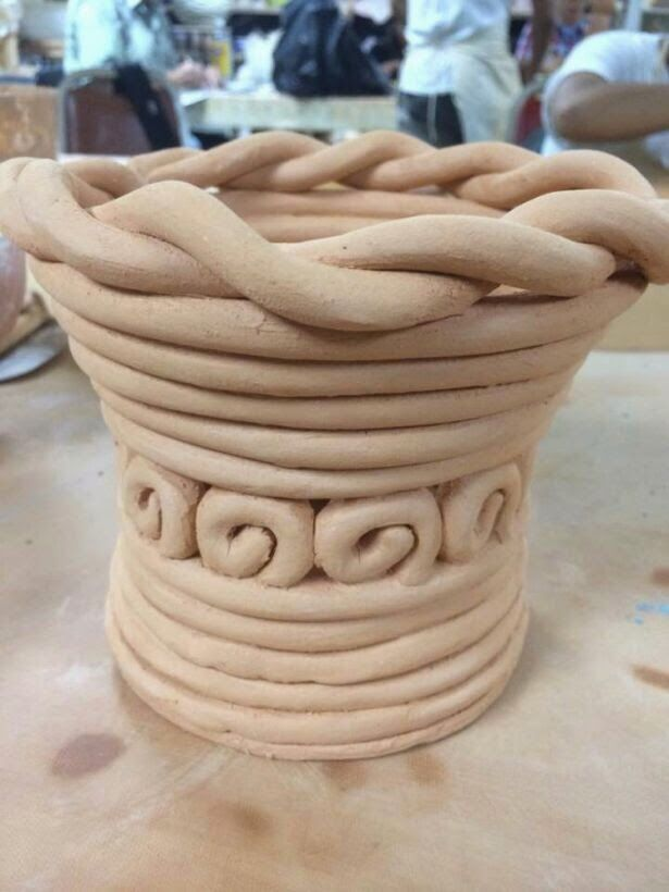 Ceramics pretty coil pot coil pots pinterest coil for Pottery designs with clay
