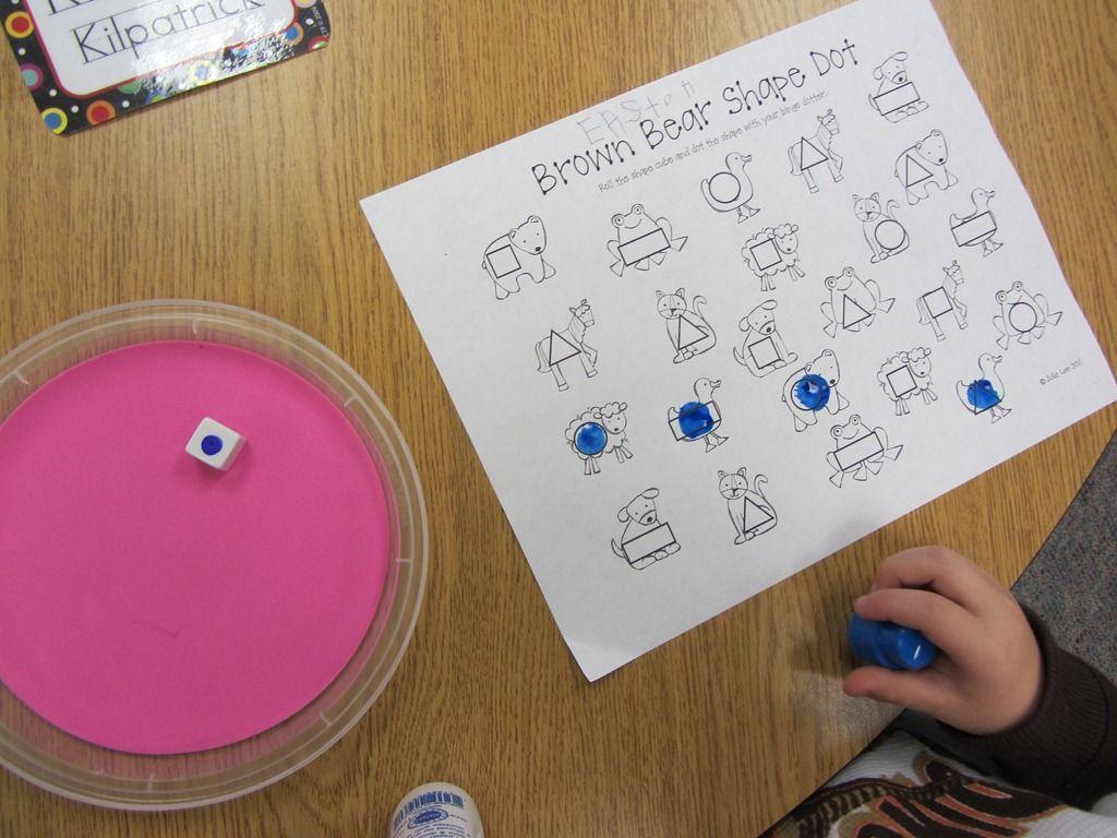 roll the shape and use a bingo dobber to dot the shape   BINGO ...