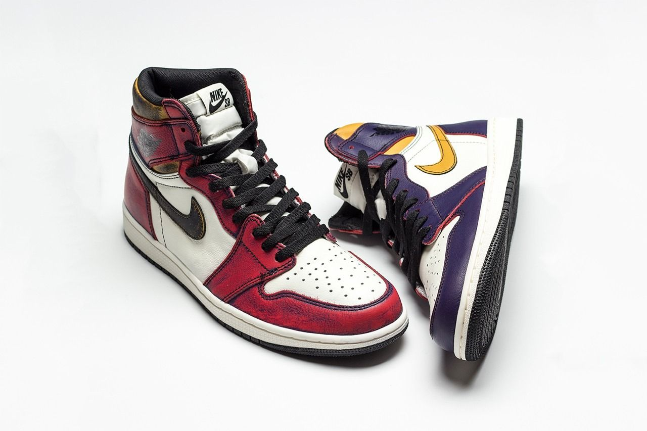 Nike Sb X Air Jordan 1 Retro High Og Lakers To Bulls With