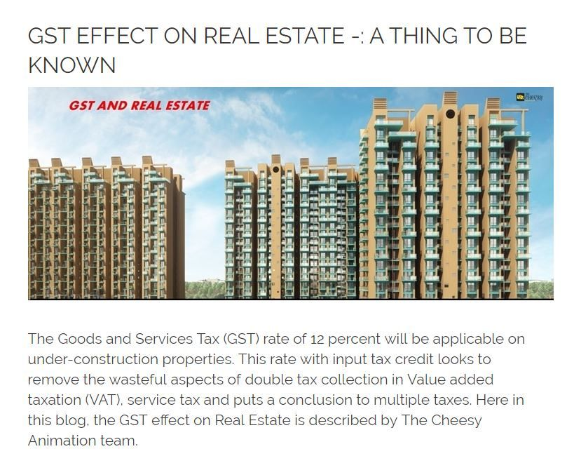 Gst Effect On Real Estate A Thing To Be Known Real Estate Interior Design Renderings 3d Interior Design