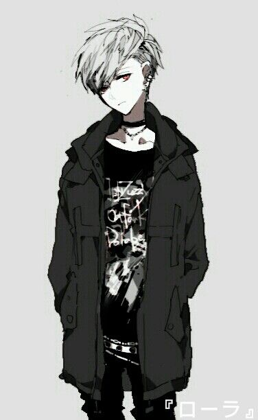 Cute emo boy anime