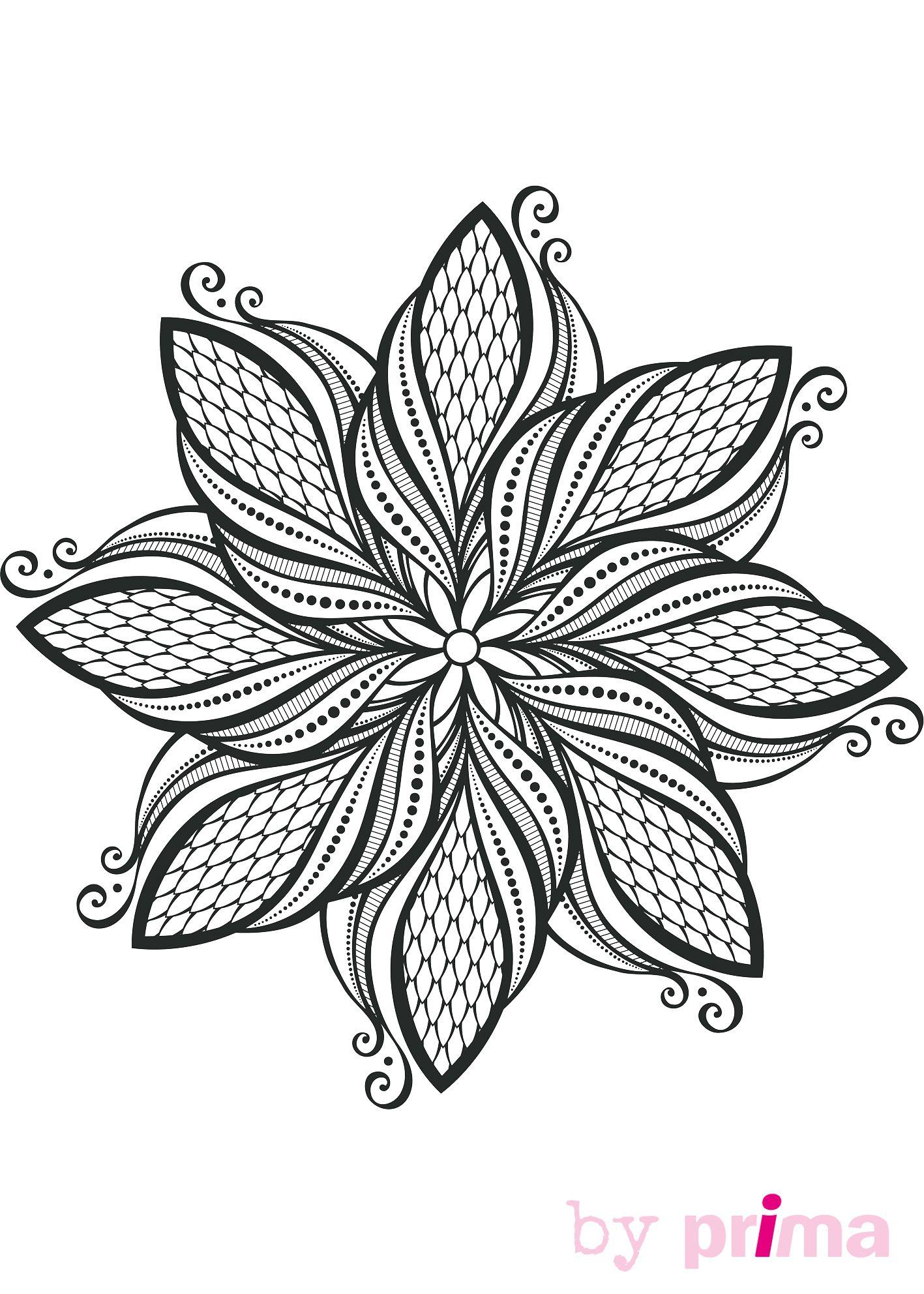 Pin by anne jefferson on mandalas pinterest - Coloriage fleur geometrique ...