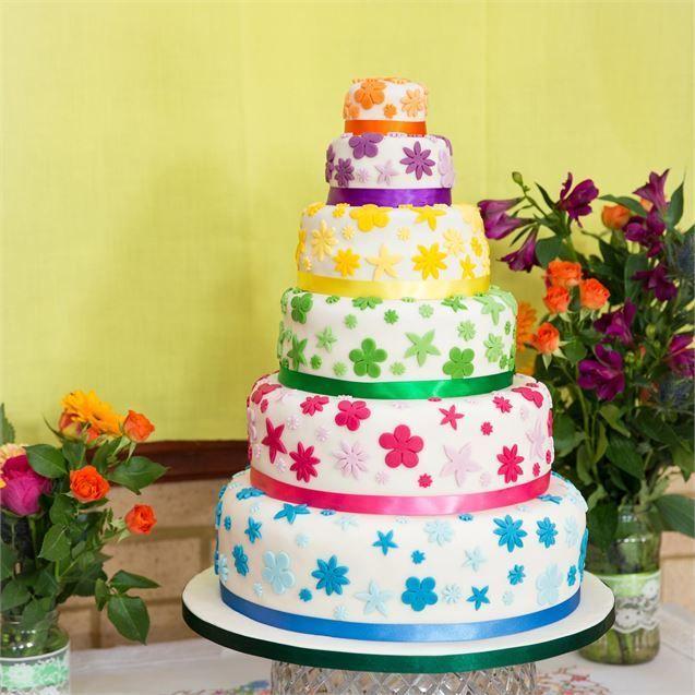 <p>Pollyanna made her own wedding cake