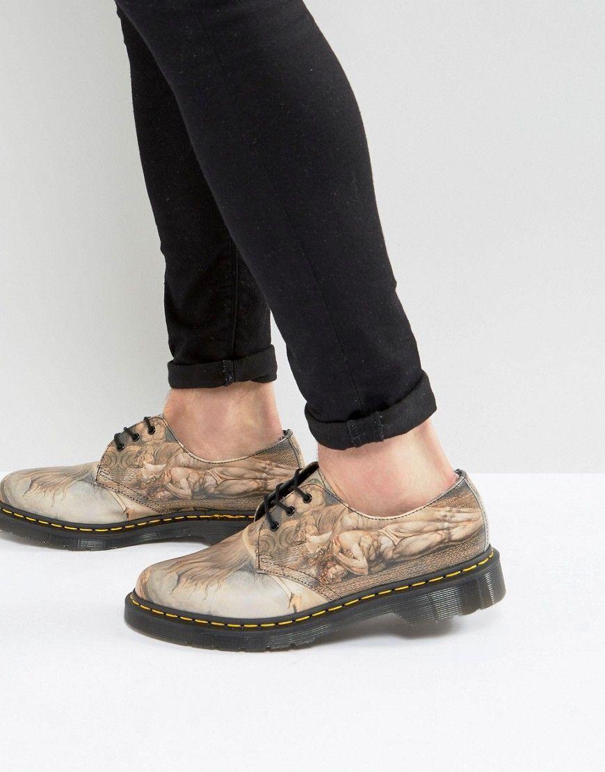 Dr Martens 1461 William Blake Print 3-Eye Shoes at asos.com