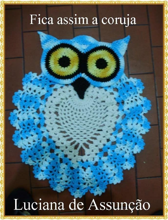 Photo Tutorial] Beautiful Crochet Owl Rug (Bathroom Set)- With A ...