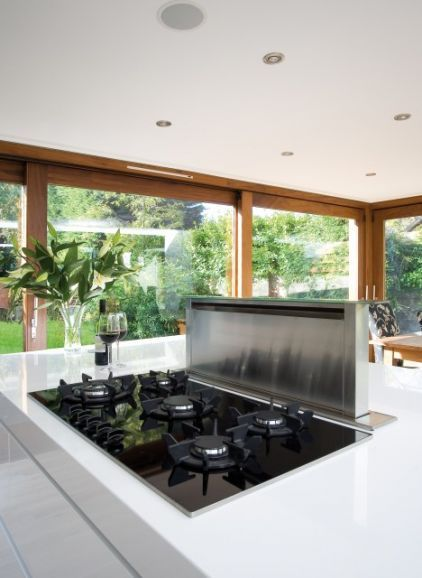 For An Island Cooktop A Downdraft Ventilation System That Rises