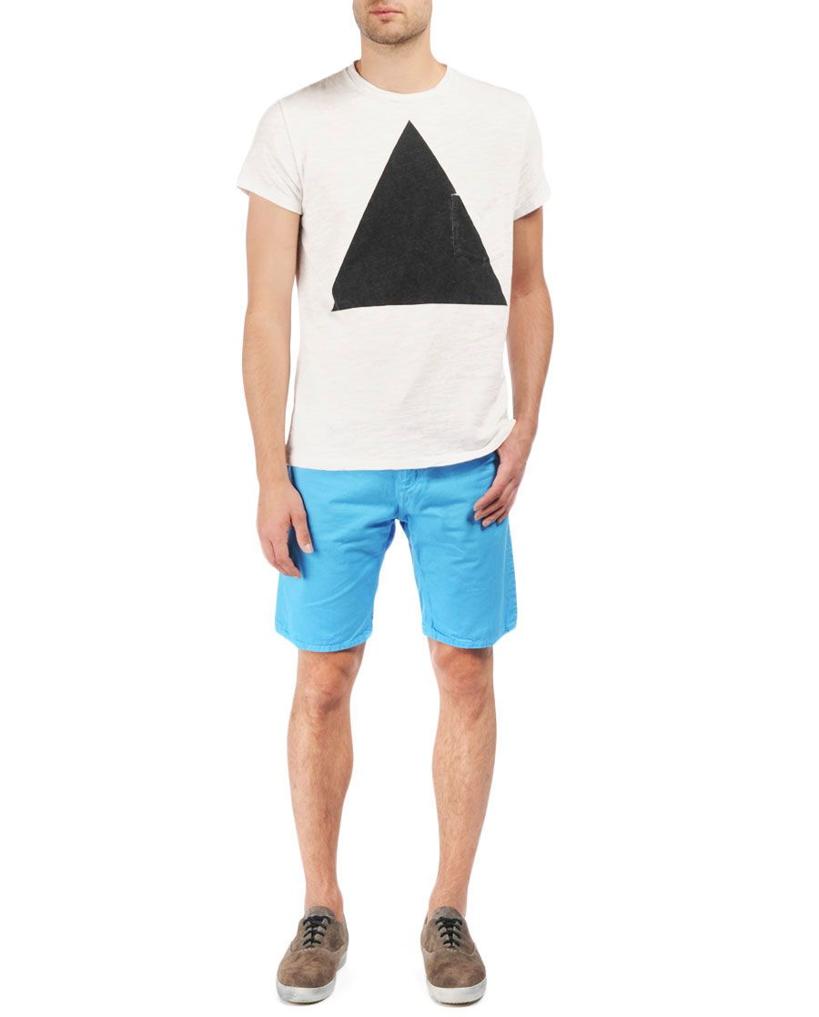 Triangle pocket tee white rag u bone official store because