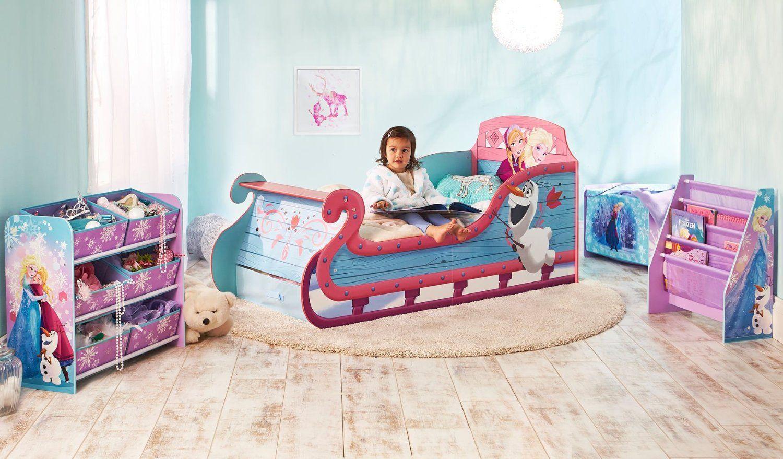 Cama infantil frozen de madera camas infantiles para for Cuartos de ninas frozen