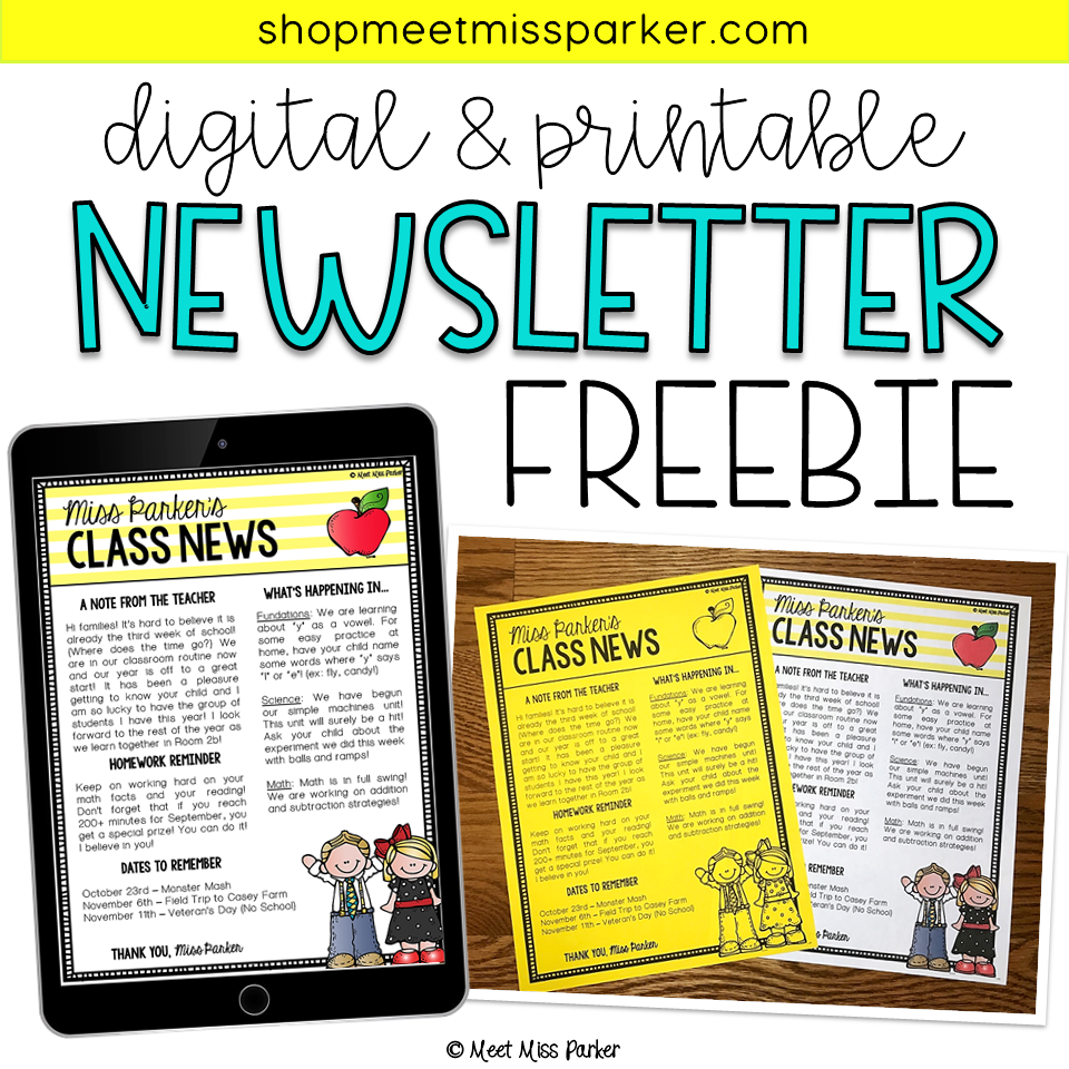 newsletter template editable free digital printable first